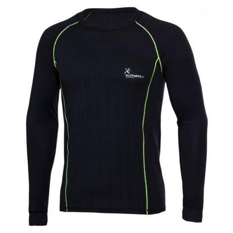 Tričko Klimatex Silk Touch KRYSTOF Černá / Zelená