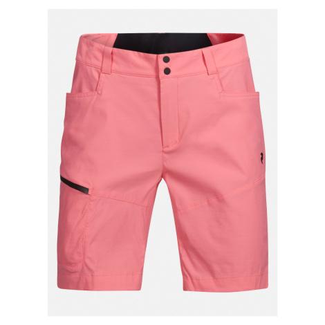 Šortky Peak Performance W Iconiq Long Shorts - Růžová