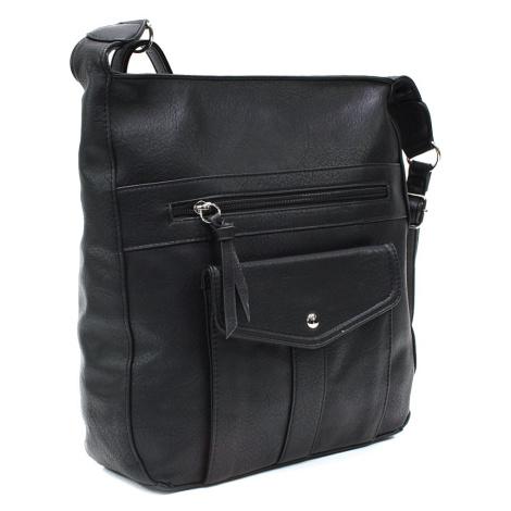 Černá dámská módní zipová kabelka Diahann Tapple