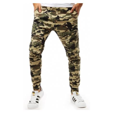 Dstreet Béžové maskáčové stylové jogger kalhoty