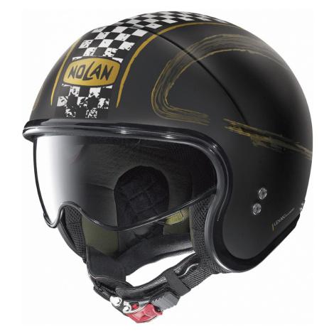 Moto Helma Nolan N21 Getaway Flat Black-Gold