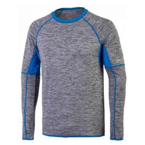 Tričko Klimatex PIERRE s dlouhým rukávem Šedá / Modrá