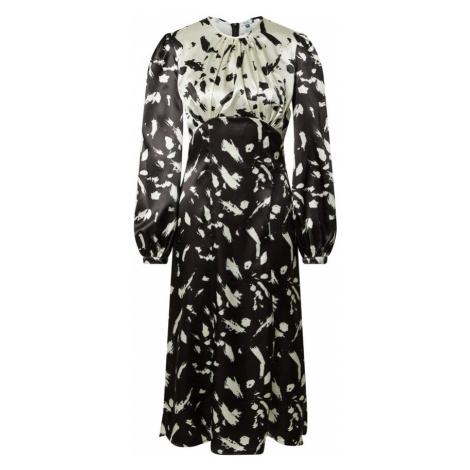 Chi Chi London Košilové šaty 'Adelina' černá / bílá