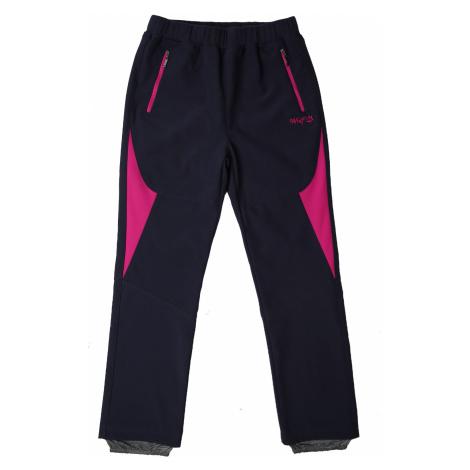 Dívčí softshellové kalhoty - Wolf B2182, tmavě modrá