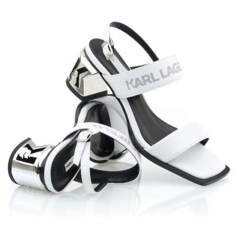 Sandále Karl Lagerfeld K-Blok 2-Strap Open Sandal - Bílá