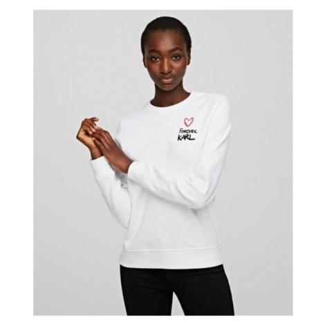 Mikina Karl Lagerfeld Forever Karl Sweatshirt - Bílá