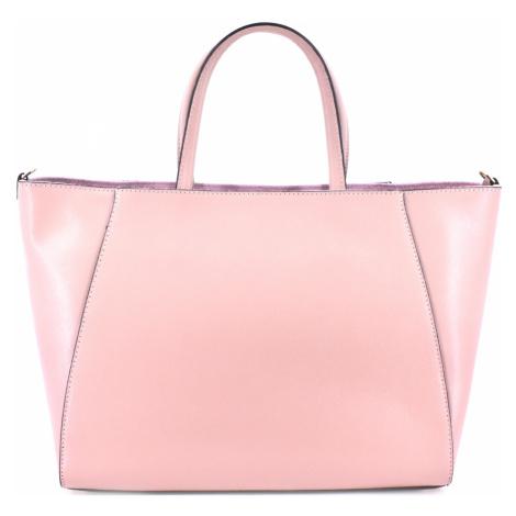 Moderní Shopper dámská kožená kabelka Arteddy - růžová pudrová