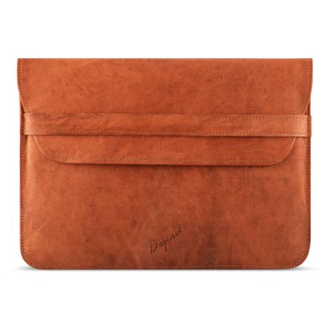 Bagind Namek - Dámský i pánský kožený obal na notebook hnědý, ruční výroba, český design