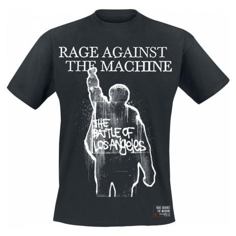 Rage Against The Machine Album Cover Tričko černá