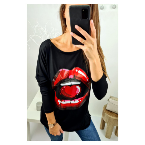 Černá tunika Lips