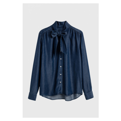 KOŠILE GANT D1. CHAMBRAY BOW BLOUSE