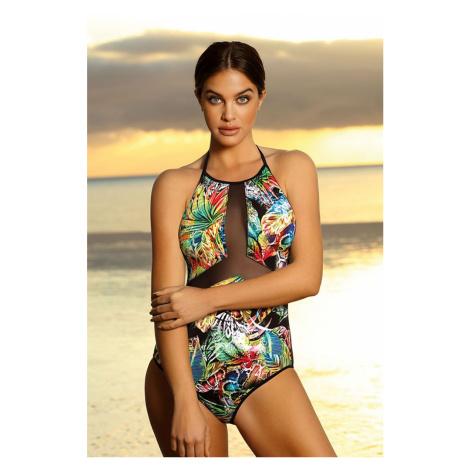 Vícebarevné vzorované plavky Renee Lorin