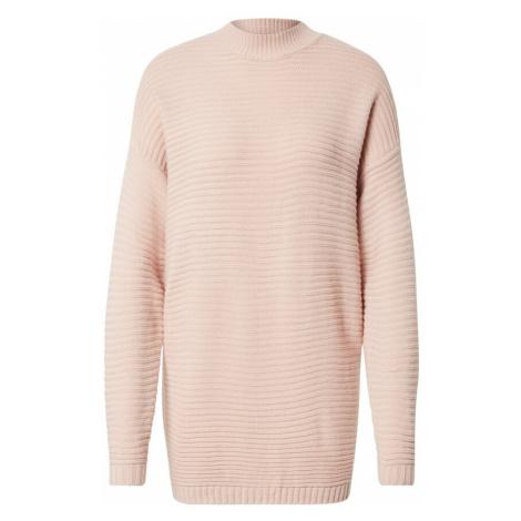 Missguided Úpletové šaty pastelově růžová