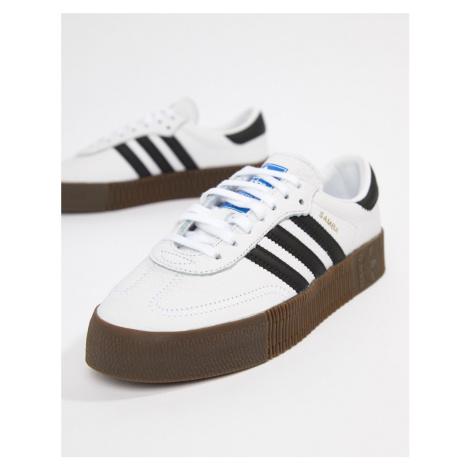 Adidas Originals white and black Samba Rose trainers