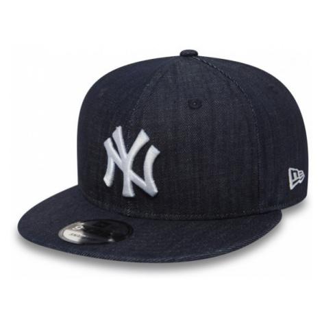 New Era 9FIFTY DENIM NEW YORK YANKEES tmavě modrá - Pánská snapback kšiltovka