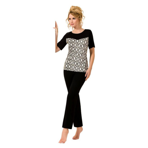 Luxusní černé pyžamo Isabel Passion