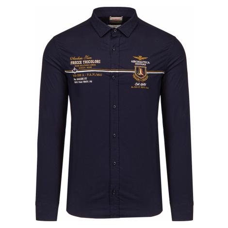 Košile AERONAUTICA MILITARE tmavomodrá