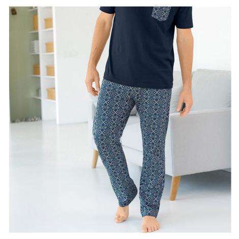 Blancheporte Pyžamové kalhoty s potiskem nám.modrá/modrá