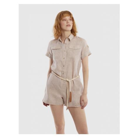 Šaty La Martina Woman Linen Suit S/S - Hnědá