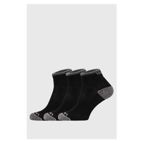 3 PACK sportovních ponožek Ray černý VoXX