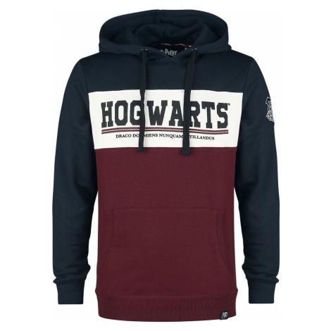 Harry Potter Hogwarts mikina s kapucí vínovočervená-námornícka