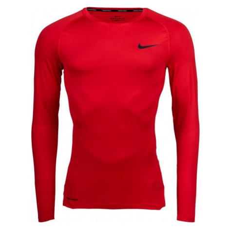 Nike NP TOP LS TIGHT M zelená - Pánské tričko s dlouhým rukávem