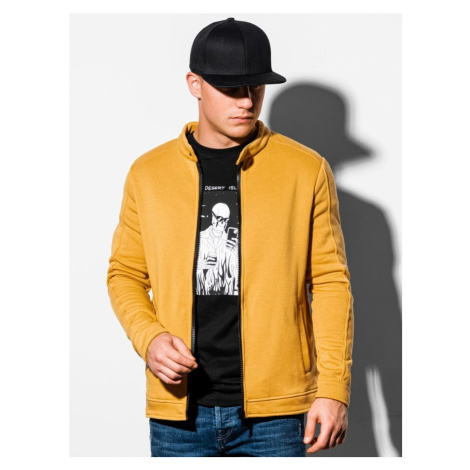 Ombre Clothing Žlutá mikina na zip B1071