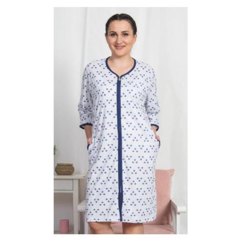 Dámské domácí šaty Vienetta Secret Marika | světle šedá