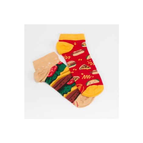 Many Mornings Fast Foot Low Socks červené / žluté / zelené