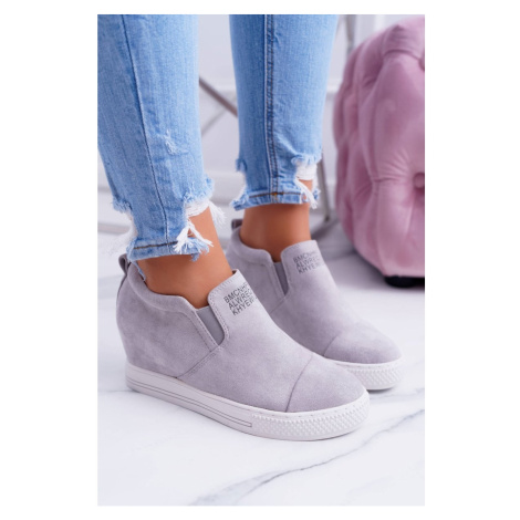 Women's Wedge Sneakers Lu Boo Grey Kaori Kesi