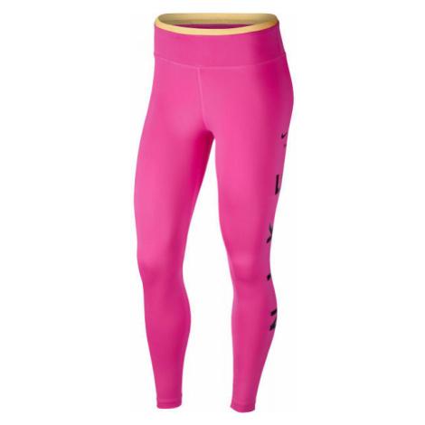 Nike ONE TGT 7/8 ICNCLSH GX W růžová - Dámské legíny