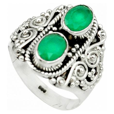 AutorskeSperky.com - Stříbrný prsten se smaragdem - S2864