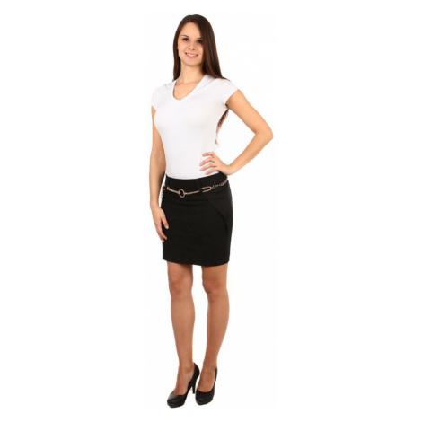 Dámská pouzdrová midi sukně s krajkou