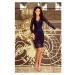NUMOCO šaty dámské 170-7 krajka dlouhý rukáv