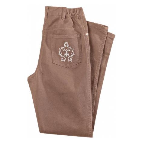 Džínové kalhoty, nižší postava hnědošedá