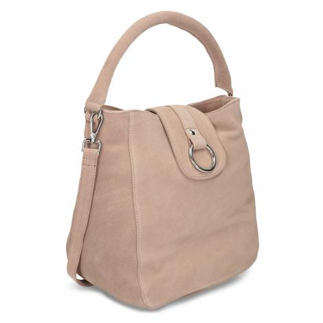 Béžová kožená dámská kabelka Baťa