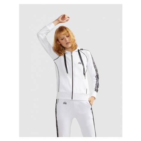 Mikina La Martina Woman Jersey Hooded Fleece - Bílá