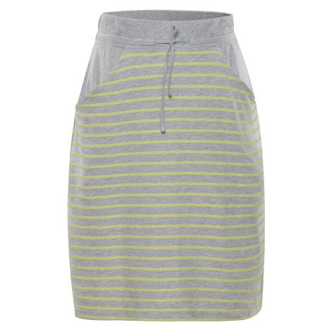 Dámská sukně Alpine Pro JOIRA - šedo-žlutá