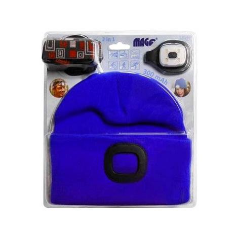 MAGG Čepice s LED světlem - světle modrá