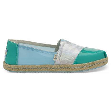 Pastel Turquoise Translucent Women Alpargata Toms