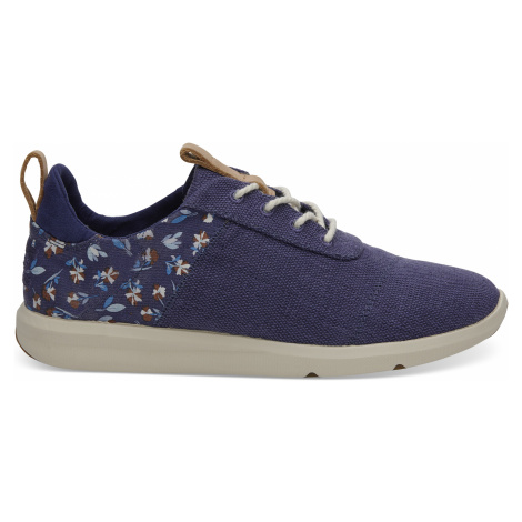 Deep Cobalt Vintage Flower/Heritage Canvas Women Cabrillo Sneak Toms