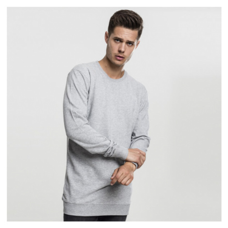 Urban Classics Long Light Fleece Crewneck grey