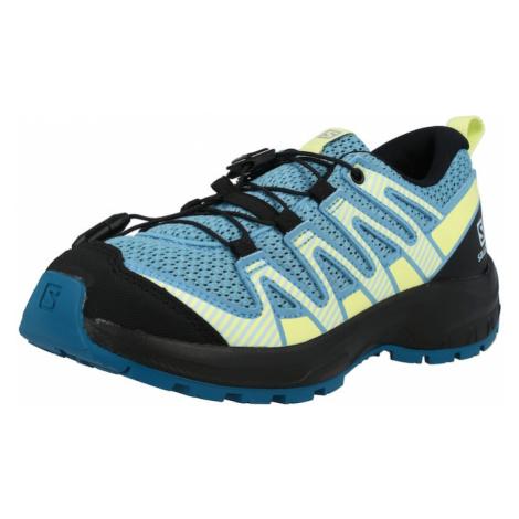 SALOMON Sportovní boty světlemodrá / svítivě žlutá / šedá / černá