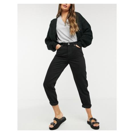 Bershka mom jean in black