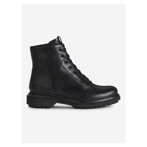 Asheely Kotníková obuv Geox Černá