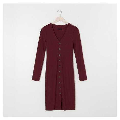 Sinsay - Šaty z úpletové žebrované látky ECO AWARE - Fialová