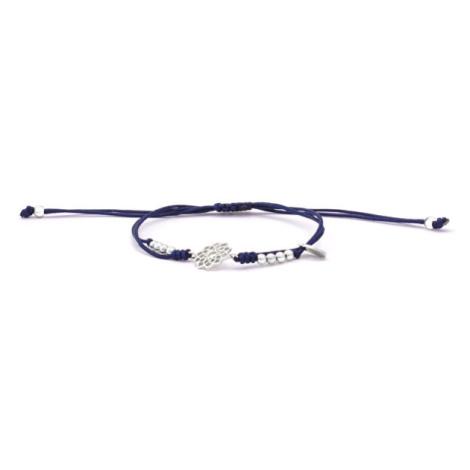 Beneto Šňůrkový modrý kabala náramek Mandala AGB533