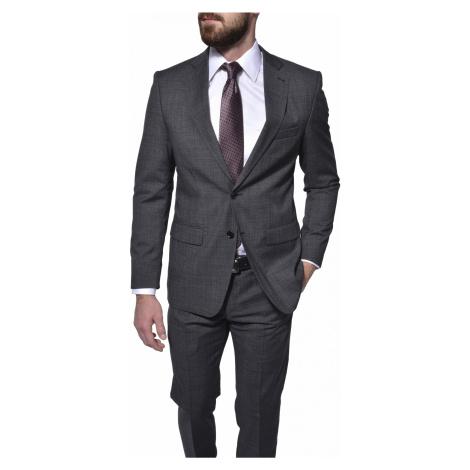 Šedý vlnený Slim Fit oblek Alain Delon