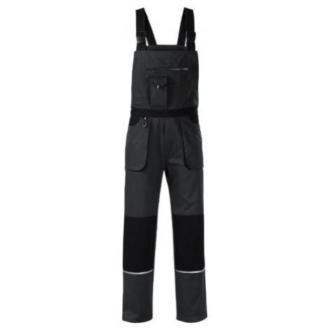RIMECK Woody Pánské pracovní kalhoty s laclem WX294 eben šedá