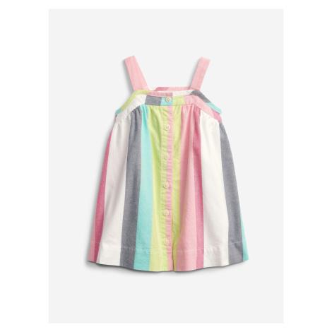 Baby Stripe Button Šaty dětské GAP Barevná